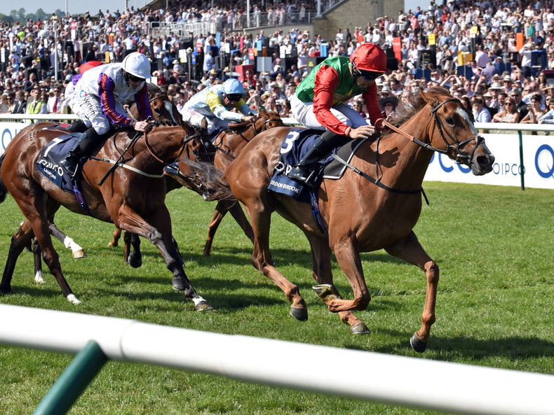 Billesdon Brook bei ihrem Sieg in den 1000 Guineas in Newmarket 2018
